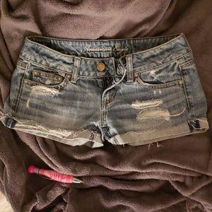 Distressed shorts american eagle fashion